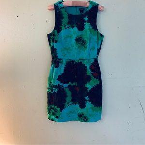 J.Crew Sleeveless Lined Print Dress W/Pockets SZ 6